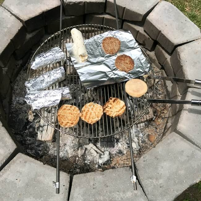 Breakfast over the fire, a custom grill grate and the fastest way to start a fire