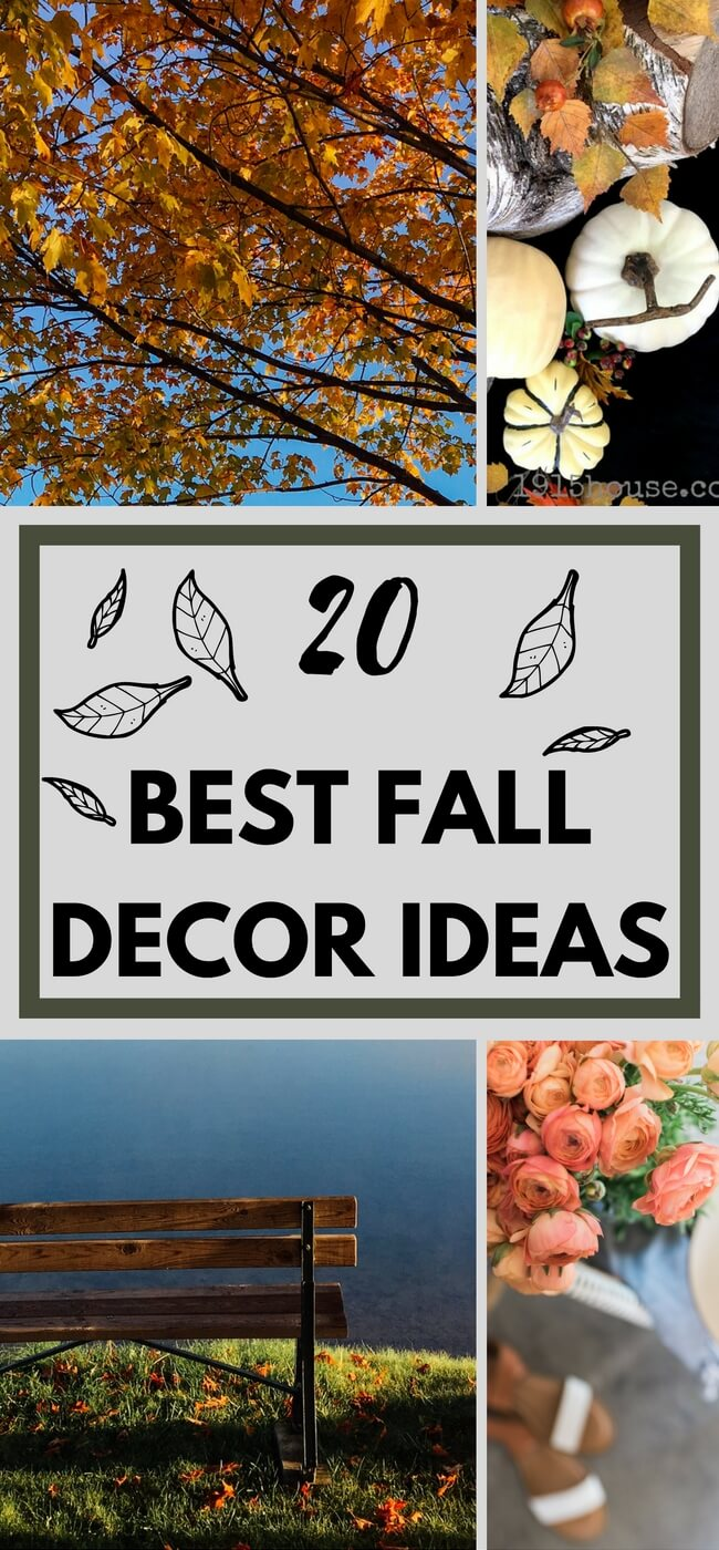 Fall decor ideas galore! 20 tips and tricks to get you excited for Fall and inspiration for creating the coziest Fall home ever.