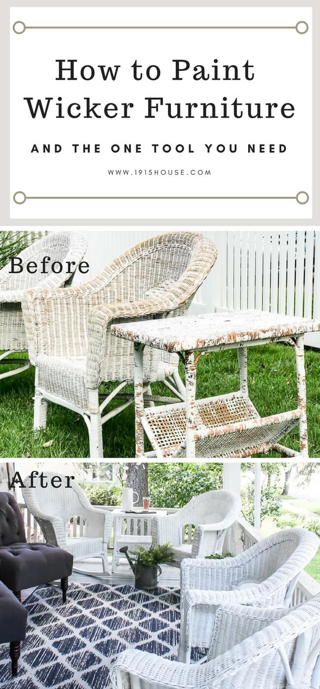 How To Paint Wicker Furniture Quickly And Easily For A Lasting Finish.