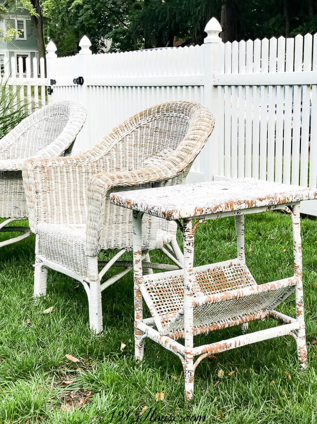 Power washing wicker furniture gives you a great base for repainting and protecting it against the elements