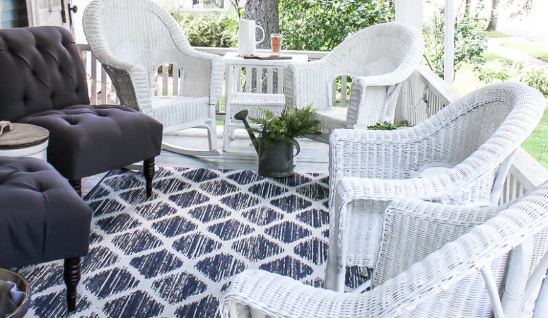 How to paint wicker furniture for a long lasting finish 1915 house - Long lasting exterior paint design ...