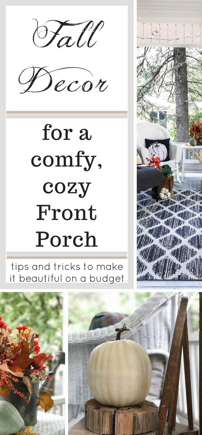 Let's get cozy outside with these tips and tricks for a beautiful Fall front porch...