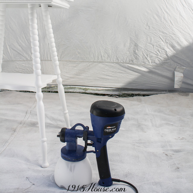 The HomeRight spray shelter makes painting furniture a breeze...