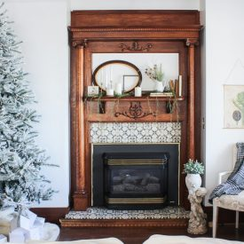 A neutral Christmas room tour...sweet and simple