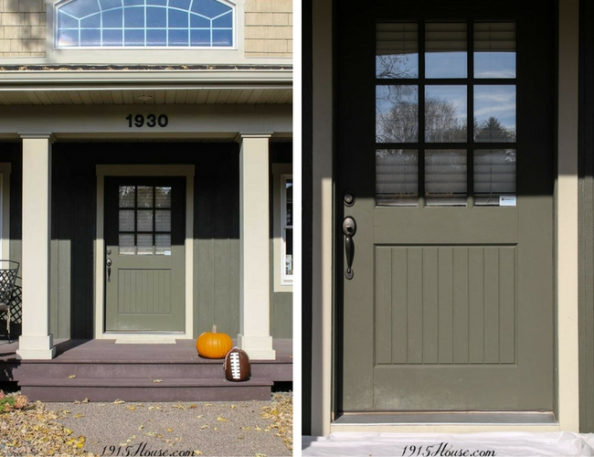 Front door before it's makeover...use THIS paint!