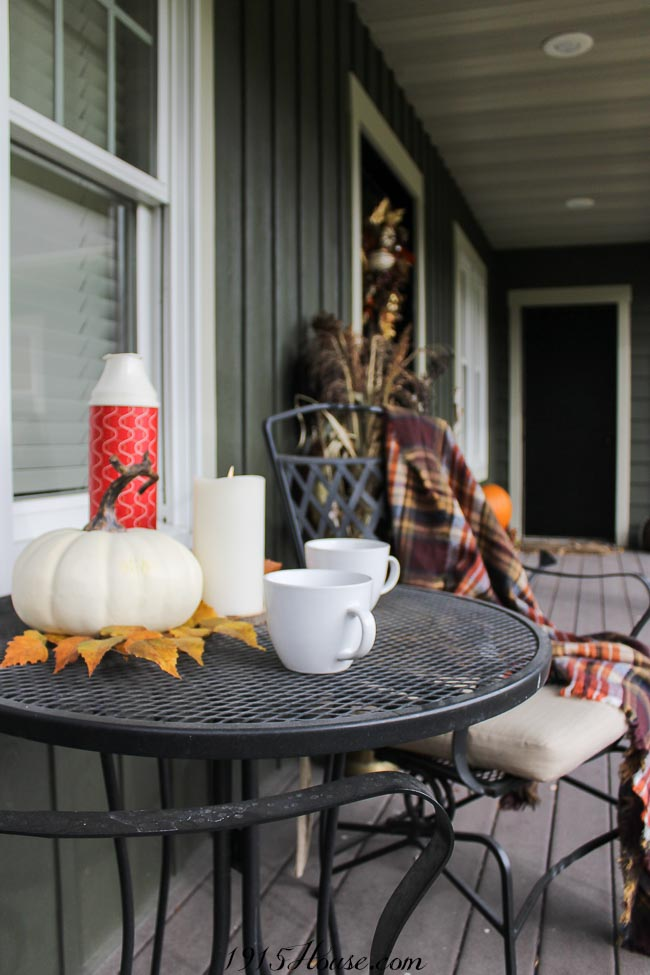 Lazy fall mornings on the front porch - and curb appeal galore...