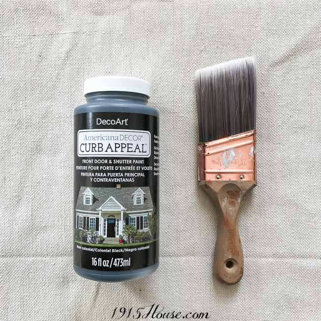 Curb Appeal paint is ideal for front doors - it's easy to work with and hold up well!