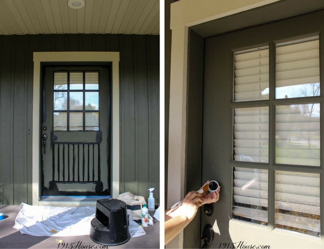 How to paint a front door 101 - save time and frustration with THIS paint!