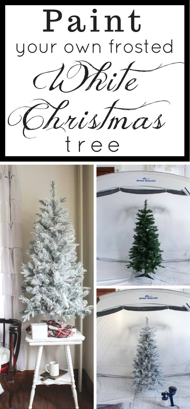 A beautifully frosted, white Christmas tree doesn't have to cost a fortune. DIY your own with these simple tips!