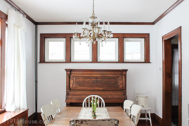 Dining room makeover with the perfect white