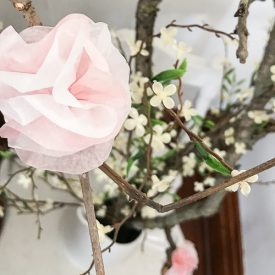 Easy Tissue Paper Flowers for Spring Branches