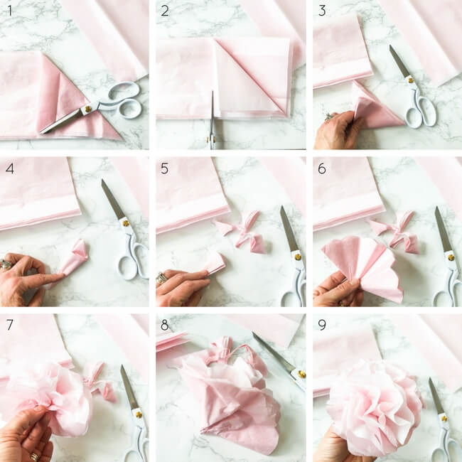 Easy tissue paper flowers that won't have you pulling out your hair...