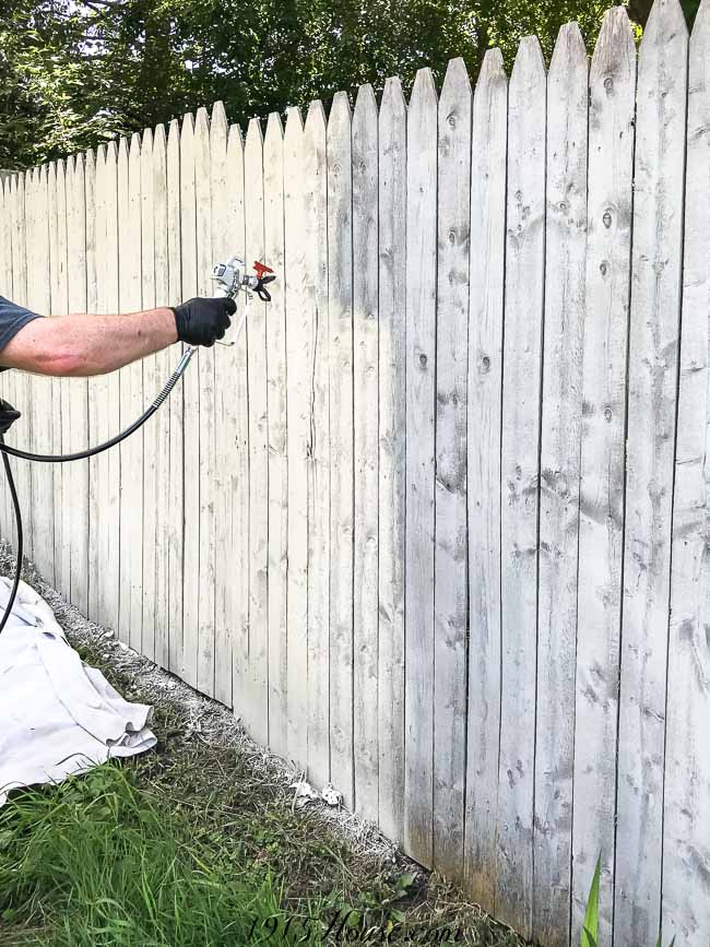 Painting a fence used to take days, now takes only hours. This is hands down the fastest way to paint a fence.