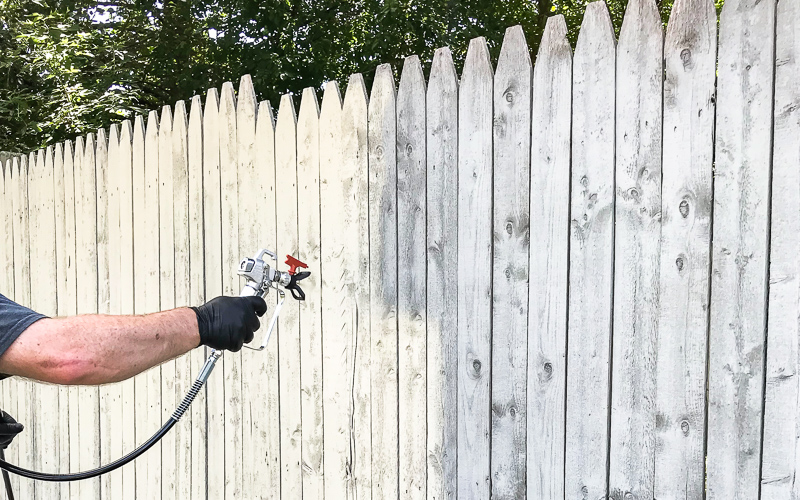 Fastest Way to Paint a Fence