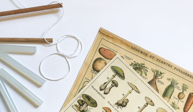 Five Minute Vintage Wall Hanging Tutorial