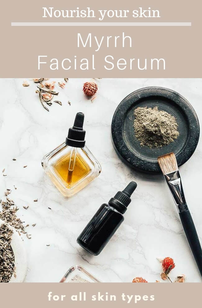 A Myrrh Facial Serum Recipe in 5 minutes and under $5! Nourishing skin food for a glowing complexion