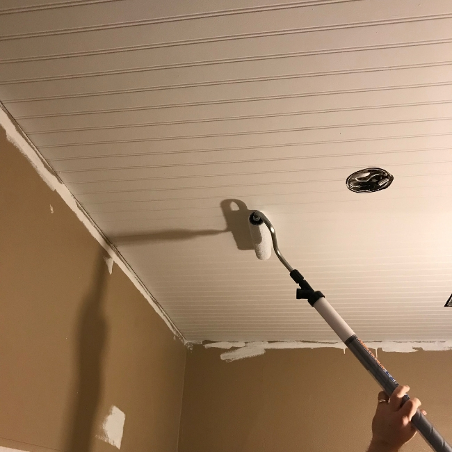 painting bathroom ceiling